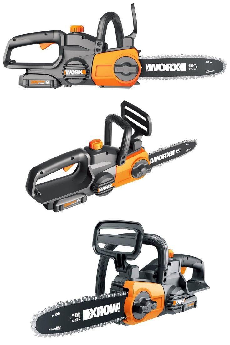 Worx Wg322 20v Cordless Chainsaw With Auto Tension Cordless Chainsaw Chainsaw Chainsaw Reviews