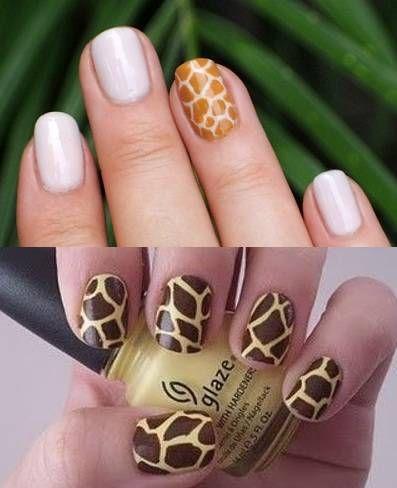 Unha de girafa...: Nails Tendência, Nails Epic, Nails Nails, Giraffes Prints, Giraffes Nails, Nails Art, Nails Design, Silver Nails, Nails 3
