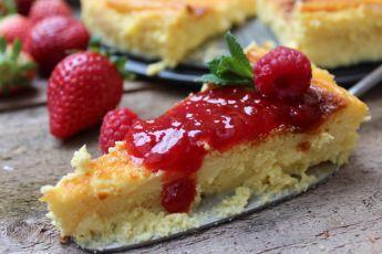 Tarta de Requeson con mermelada