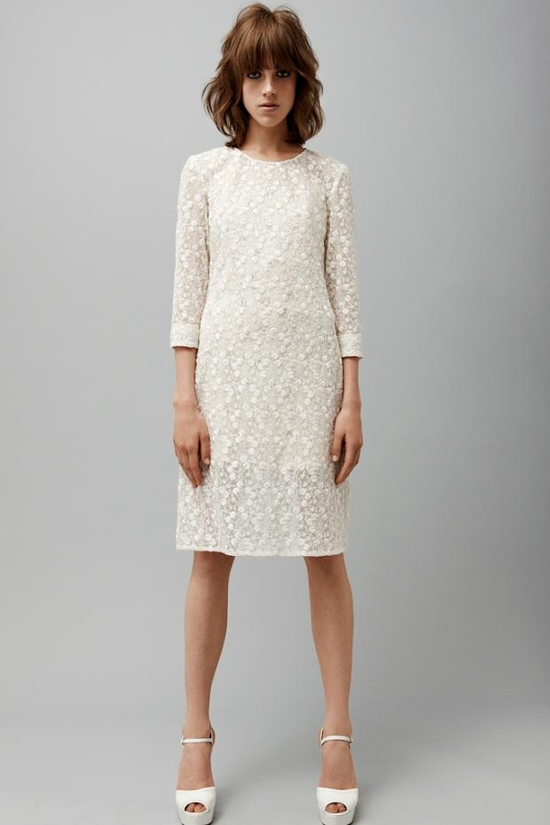 jill stuart resort '13/3.: 2013 Womenswear, Pretty White, Resorts 2013, Stuart Resorts, Shorts Dresses, Resorts 13, Lace Dresses, 2013 Collection, Jill Stuart