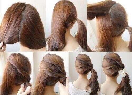 A simple but elegant hair style give it a beautiful touch with cute dress and perfect for family parties