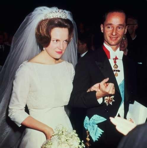 Huwelijk Prinses Irene en Prins Carlos Hugo van Bourbon de Parma 29 april 1964