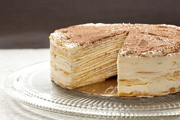 Mille-Crêpe Tiramisu Birthday Cake from Francisco Migoya