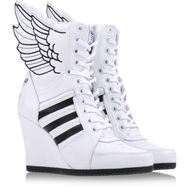 Adaptar Glorioso Unirse  JEREMY SCOTT ADIDAS High-tops (2 190 ZAR) found on Polyvore | Adidas high  tops, Sneaker heels, Fashion shoes