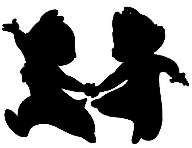 disney chip and dale silhouette - Google Search