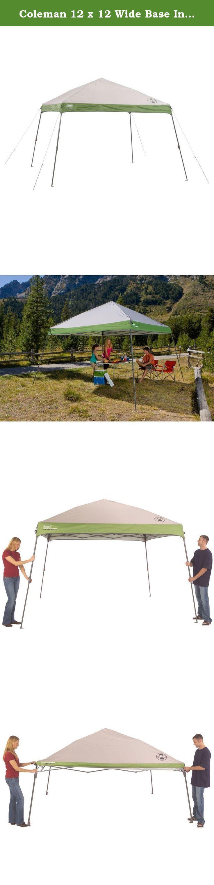 Coleman 12 x 12 Wide Base Instant Canopy. Coleman Shelter Tent, 12ft. x 12ft. Slant 187407.