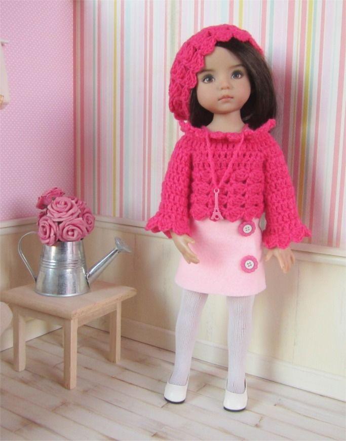 54- FICHE PATRON Tenue Paris pour poupée Little Darling, Paola Reina ou Les Chéries de Corolle : Jeux, jouets par atelier-crochet