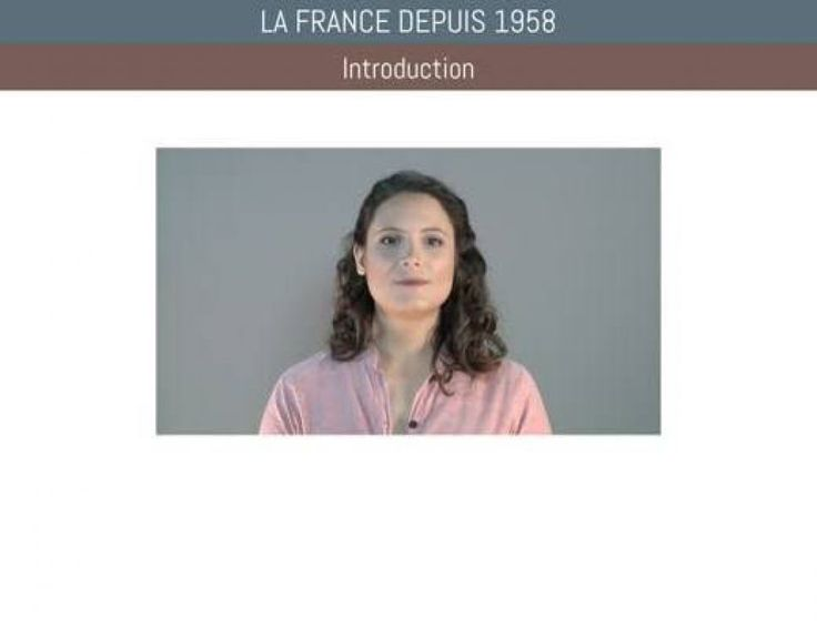 Ce cours s'intéresse à la France depuis 1958.