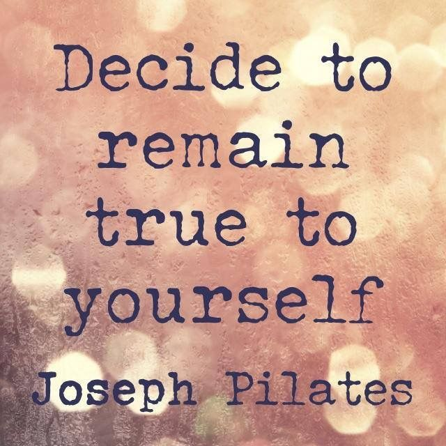 A quote by Joseph Pilates. Image originally created by Elaine Ewing at Rhinebeck Pilates.
