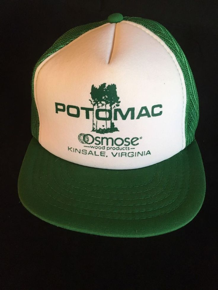 Potomoc Osmose Trucker Hat Cap Wood Products Kinsale VA Green Snapback #XpresCaps #TruckerStyle
