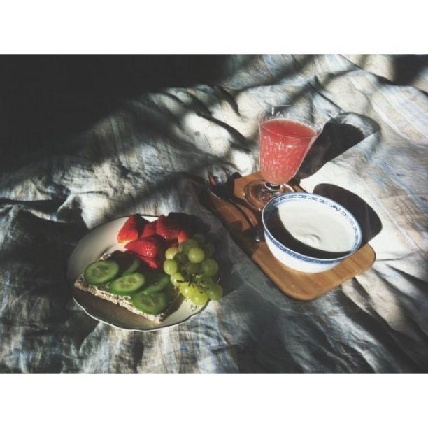 En frukost i solen är en dröm