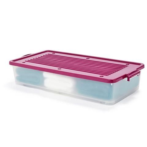 measurements? 36 Litre Underbed Storage Container With Wheels   Kmart. $12
