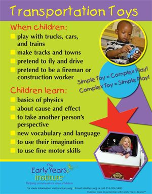 Transportation Toys Poster. For more Play pins visit: http://pinterest.com/kinderooacademy/learning-through-play/ ≈ ≈