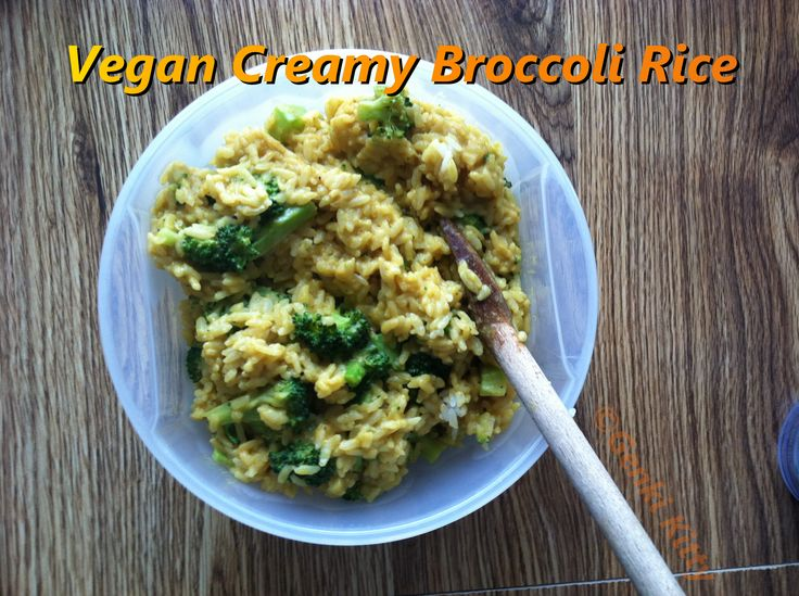 Vegan Creamy Broccoli Rice Recipe