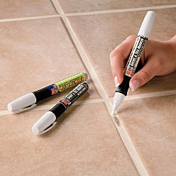 Want to try this!  Grout paint! To freshen up all that dingy grout $12 for 2 pens.
