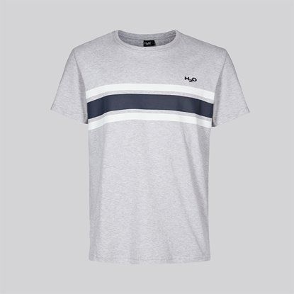 H2O Sportswear - Gilleleje Tee, Grey mel/White/Navy