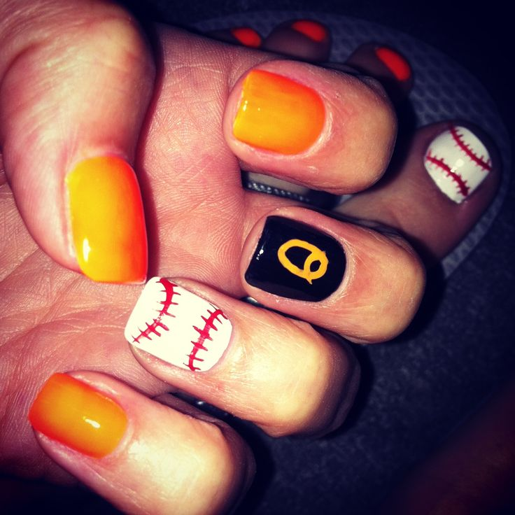oriole nails - baseball
