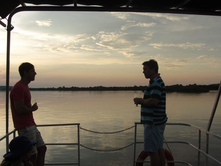 Sundowners on a boat cruise
