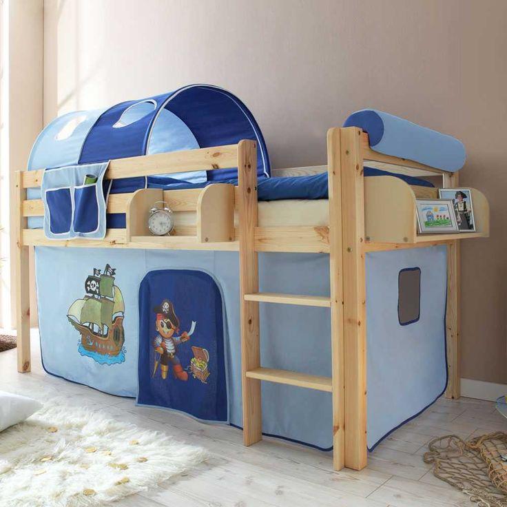 Perfect Hochbett in Blau Vorhang Jetzt bestellen unter https moebel ladendirekt de kinderzimmer betten hochbetten uid udbbf b acc ac