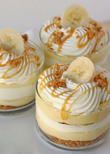 How To Banana caramel cream mini dessert