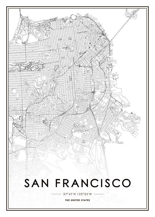 San Francisco Poster in der Gruppe Poster / Größen und Formate / 50x70cm bei Desenio AB (8724)