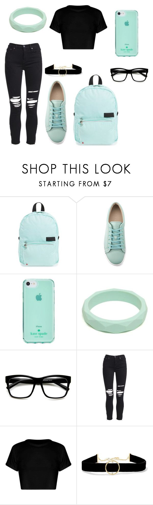 """""""Untitled #404"""" by kaybabync on Polyvore featuring STATE Bags, Kate Spade, ZeroUV, AMIRI and Anissa Kermiche"""