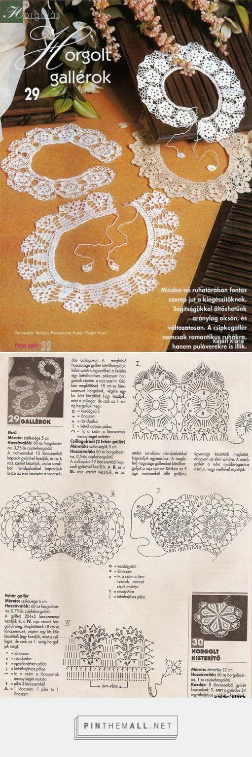 Crochet lace collars ~~ http://www.liveinternet.ru/users/mosja1/post277691336/