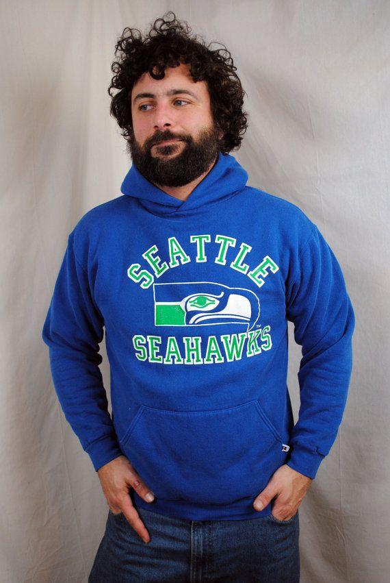 Vintage 80s Seattle Seahawks NFL Sweatshirt Hoodie