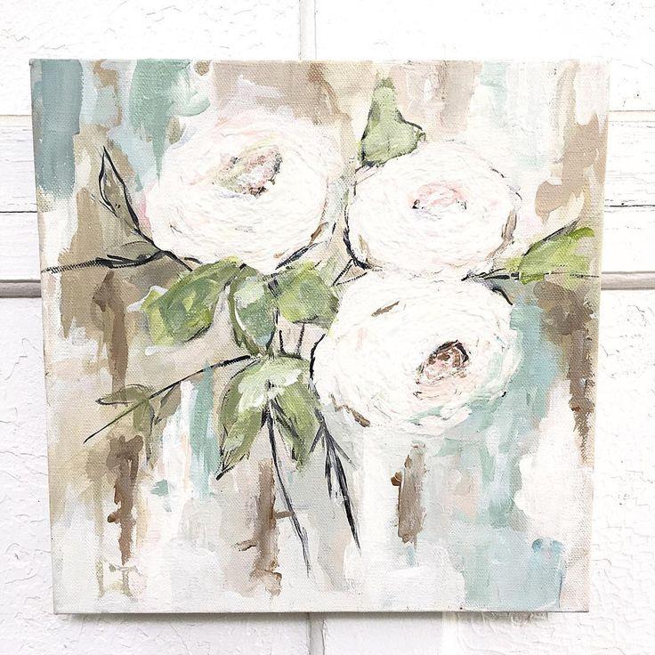 white cottage art