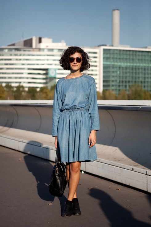 want this cut: Jean Dresses, Blue Navy Jeans Dresses, Denim Dresses, Fashion, Girl, Dresses Streetstylebijoux, Street Style, Hair, Wear