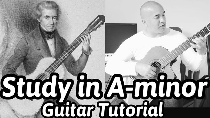 """Dionisio Aguado """"Study in A-minor"""" Classical Guitar Tutorial Note-By-Not..."""