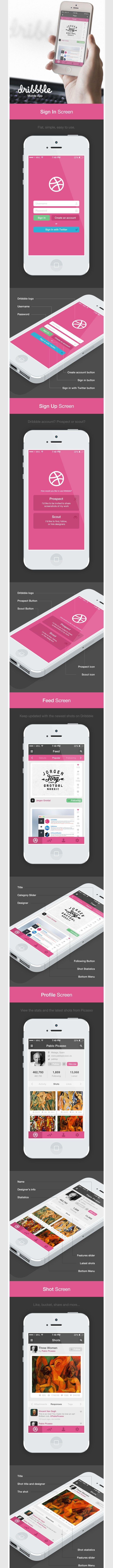 Dribbble App for iOS7