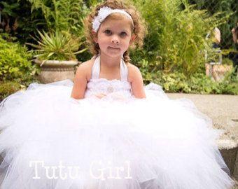 Tutu blanco vestido vestido de tutú tutú por LittleMissTrendyTutu