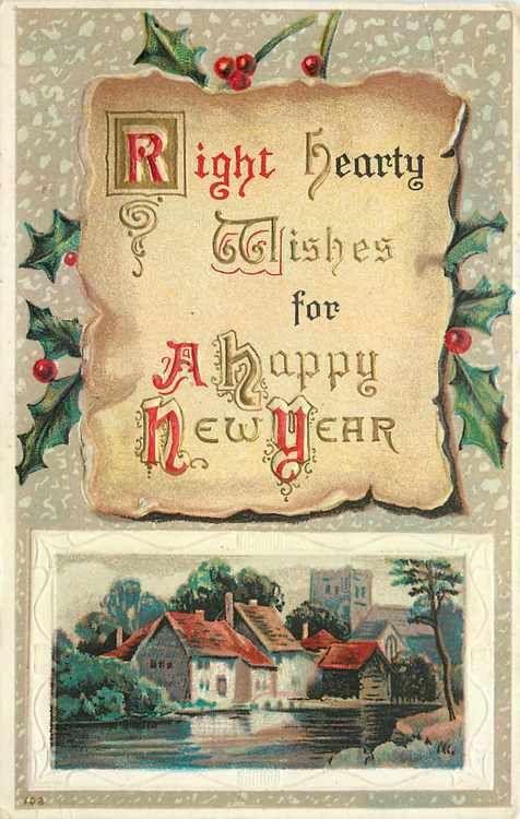 vintage new year greetings