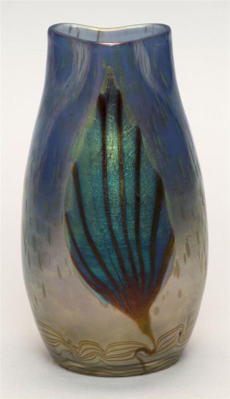 1517 best art glass loetz images on pinterest flower vases loetz phnomen art glass vase with trefoil mouth and ovoid body deco reviewsmspy