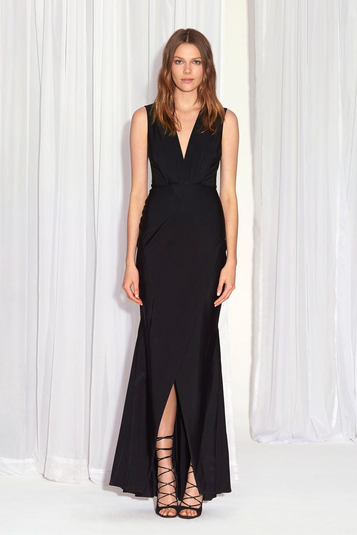 Oasis long black chiffon maxi dress
