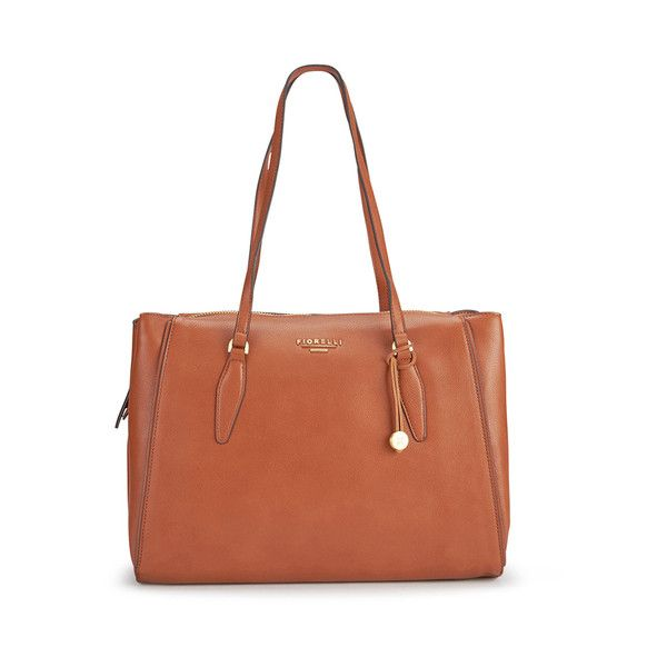 Fiorelli Women's Hennessy Large Shoulder Bag - Tan (350 GTQ) ❤ liked on Polyvore featuring bags, handbags, shoulder bags, fiorelli handbags, flat purse, brown shoulder bag, tan handbags and brown handbags