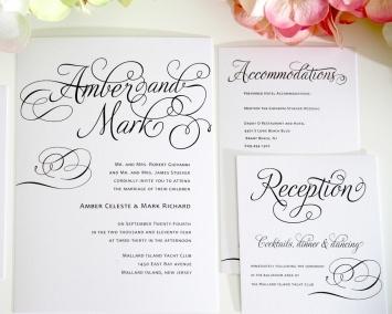 Charming Script Wedding Invitations - Wedding Invitations by Shine