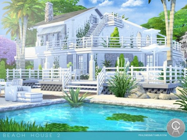 the sims resource beach house 2 by pralinesims sims 4 downloads - Sims 4 Home Design 2
