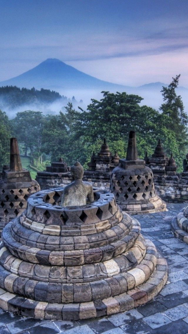 Borobudur, Central Java, Indonesia  Would love to visit this place (unless I've been blacklisted)