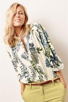 Ditsy Grandad Shirt (125912X57) | £20