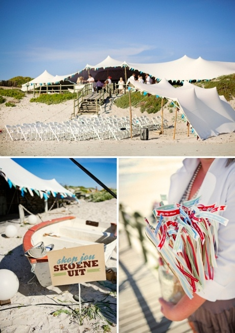 Flags & finishing touches - Seven Swans Wedding Stationery