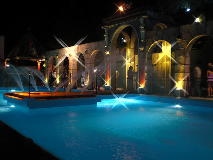 A swimming pool in Baia Imperiale, Italy