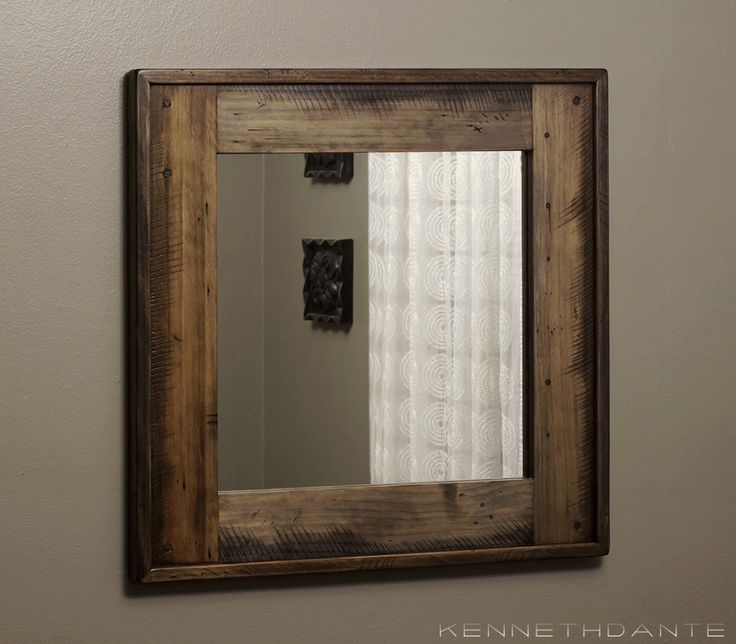 96 best modern rustic home images on pinterest modern for Inexpensive framed mirrors