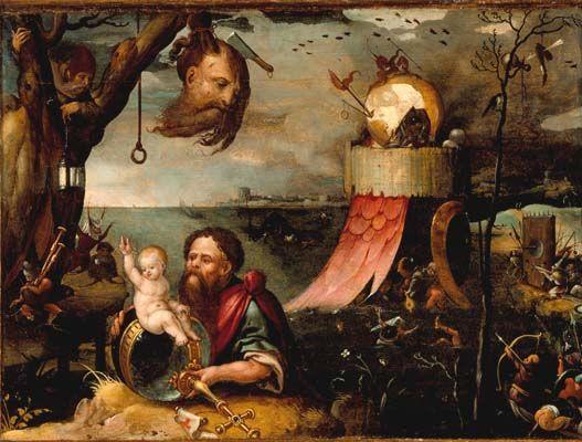 Мандейн Ян (1502-1560) — Святой Христофор. (Los-Angeles County Museum).