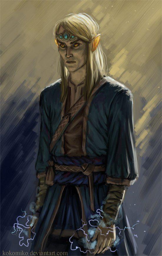 m Elf Wizard Elven Lightning Mage