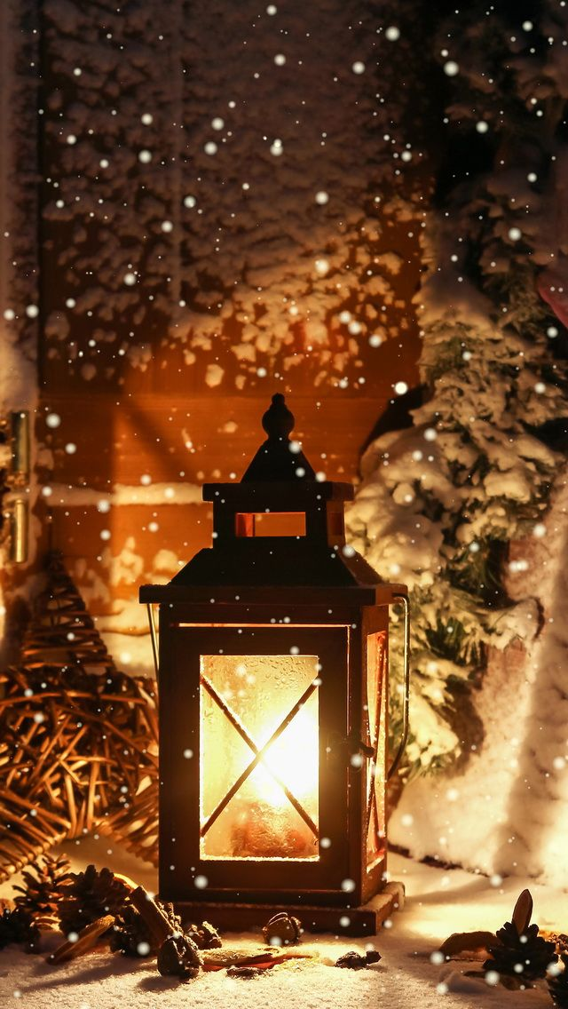 Tap image for more Christmas Wallpapers! Winter light - iPhone wallpapers @mobile9