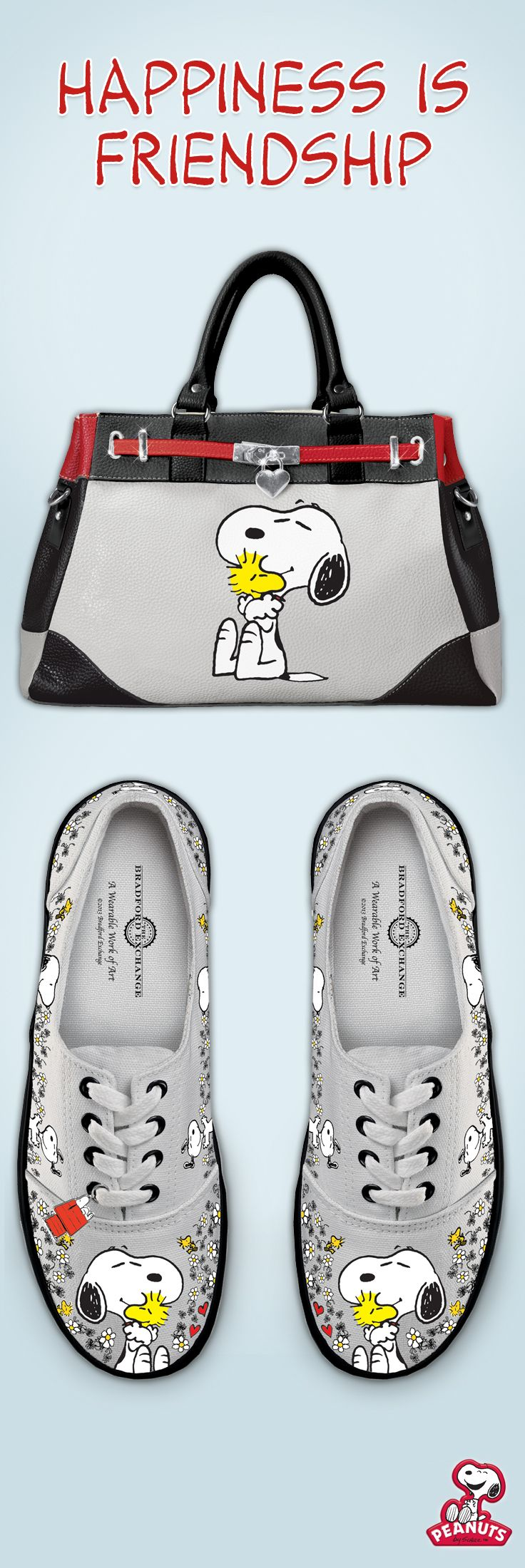Take your love for Snoopy and Woodstock everywhere with our Peanuts apparel and accessories.