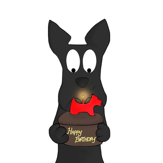 Scottie Dog Birthday Square Greeting Card. Printed on 240gsm Photo gloss card Blank inside for your message. Printed with UltraChrome K3 pigment