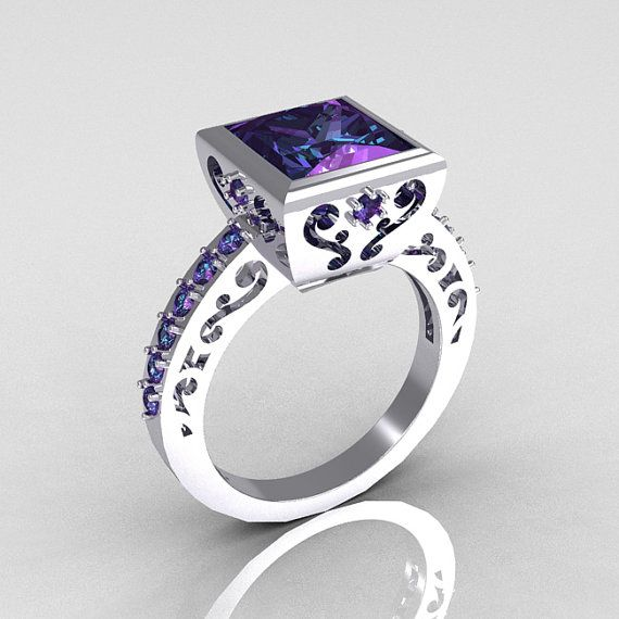 14K White Gold 25 Carat Square by artmasters, love this @Kevin Scott